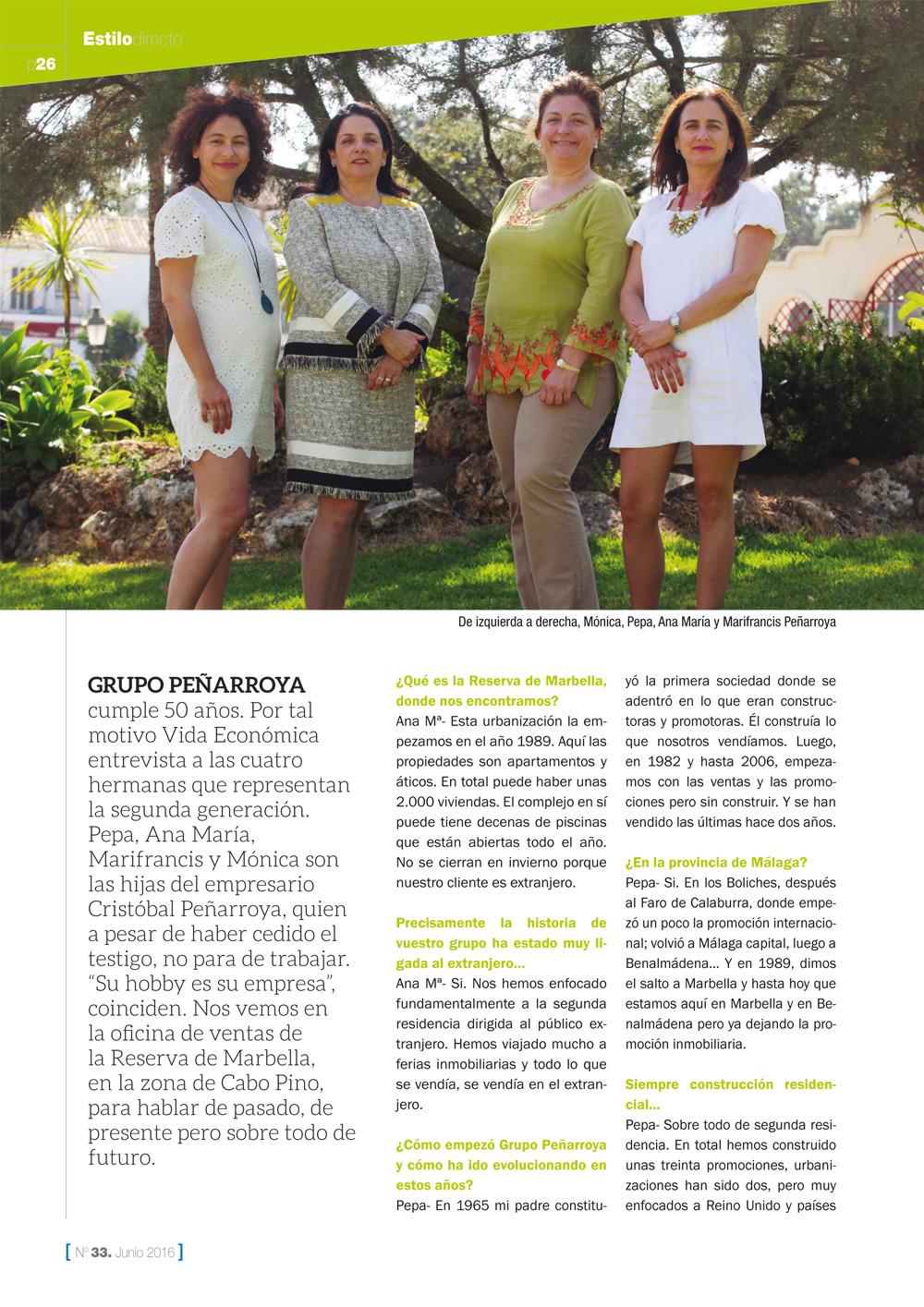 Entrevista Vida Económica Grupo Peñarroya