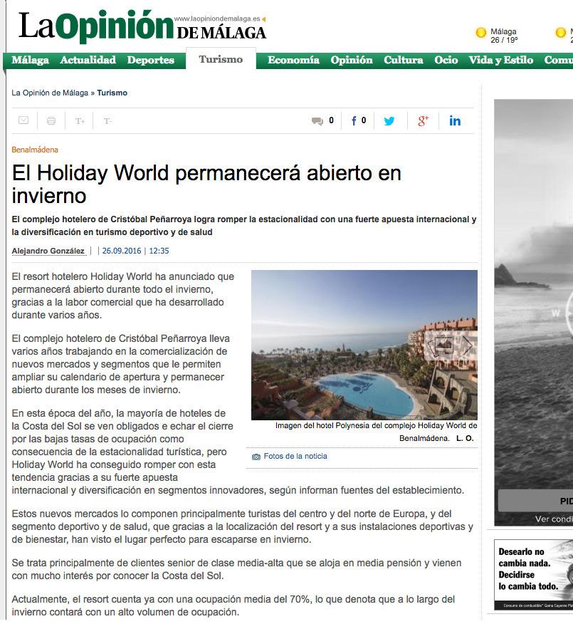 Holiday World permanecerá abierto en invierno
